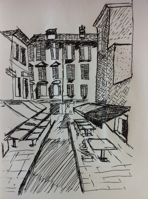 Street View Drawing Drawing of Street Views in